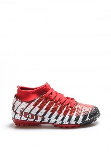 Siyah Kırmızı Unisex Halı Saha Ayakkabı 001XA1453H