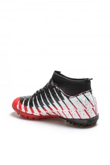 Kırmızı Siyah Unisex Halı Saha Ayakkabı 001XA1453H
