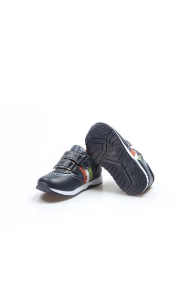 Hakiki Deri Lacivert Bebek Casual Ayakkabı 006BA800