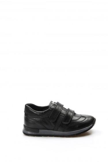 Hakiki Deri Siyah Erkek Çocuk Casual Ayakkabı 006FA900