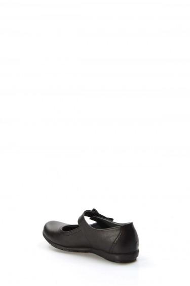 Hakiki Deri Siyah Kız Çocuk Casual Ayakkabı 006FA902