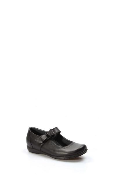 Hakiki Deri Siyah Kız Çocuk Serisonu Ayakkabı 006FA902
