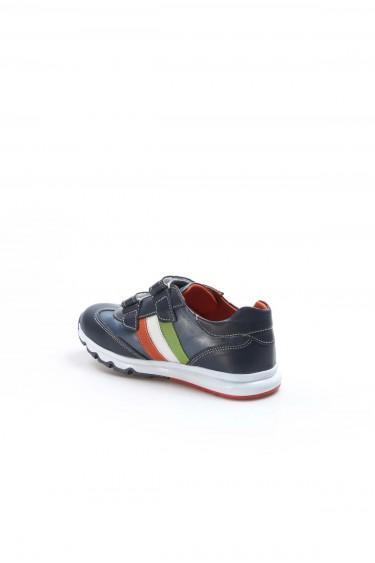 Hakiki Deri Lacivert Unisex Çocuk Casual Ayakkabı 006FA800