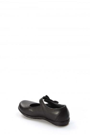 Hakiki Deri Siyah Kız Çocuk Casual Ayakkabı 006PA902