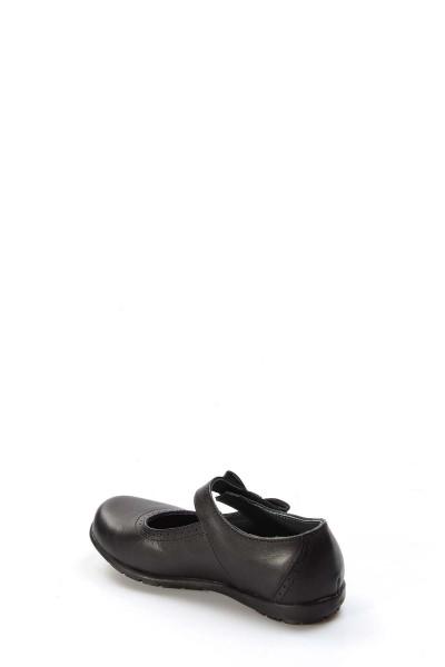 Hakiki Deri Siyah Kız Çocuk Serisonu Ayakkabı 006PA902
