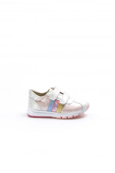 Hakiki Deri Gümüş Pembe Erkek Çocuk Casual Ayakkabı 006PA800