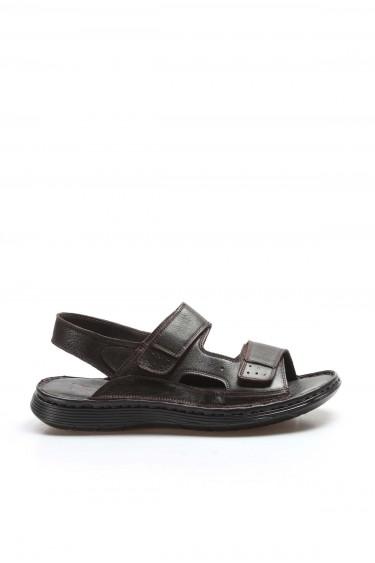 Hakiki Deri Kahve Erkek Klasik Sandalet 018MAG-208-71