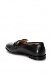 Hakiki Deri Siyah Kadın Babet Ayakkabı 019ZA21-426