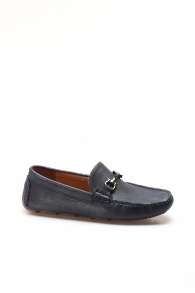Hakiki Deri Lacivert Erkek Loafer Ayakkabı 046MA2021-T