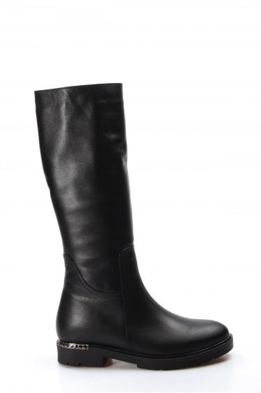 Hakiki Deri Siyah Kadın Klasik Çizme 064SZA1007