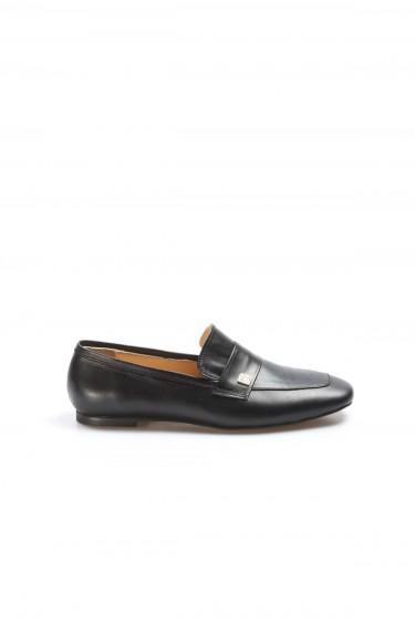 Hakiki Deri Siyah Kadın Babet Ayakkabı 064ZA790