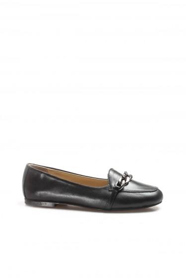 Hakiki Deri Siyah Kadın Babet Ayakkabı 064ZA3005