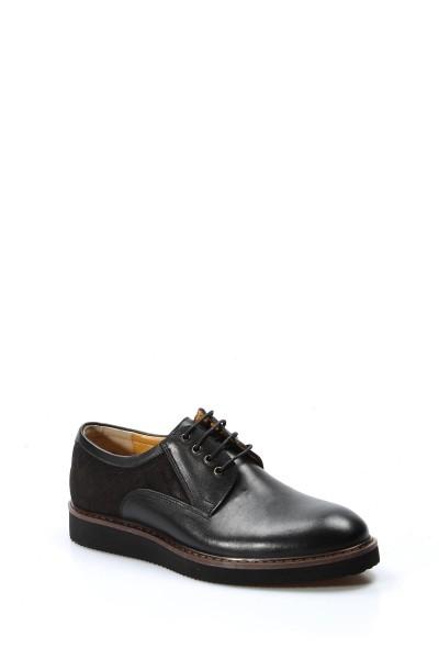 Hakiki Deri Siyah Erkek Oxford Ayakkabı 095MA4050-1