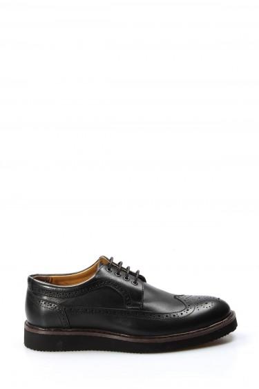 Hakiki Deri Siyah Erkek Klasik Ayakkabı 095MA4051-1