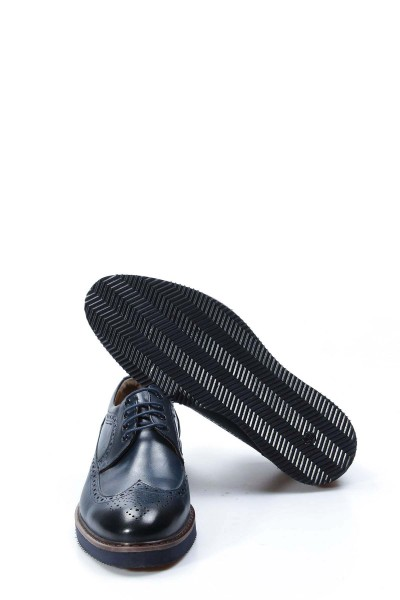 Hakiki Deri Lacivert Erkek Klasik Ayakkabı 095MA4051-1