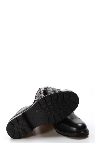 Hakiki Deri Siyah Erkek Klasik Bot 095SMA5103