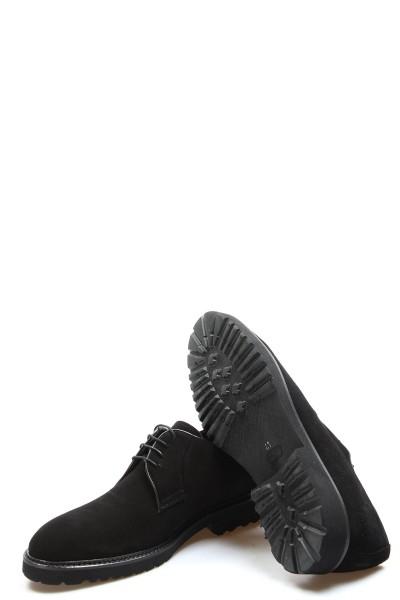 Hakiki Deri Siyah Süet Erkek Klasik Ayakkabı 237MA1519