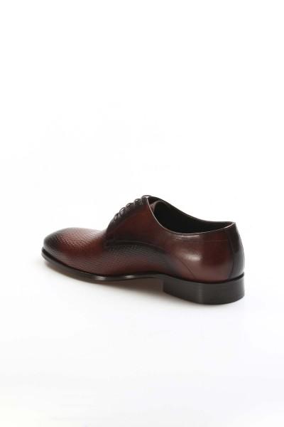 Hakiki Deri Kösele Taba Baskılı Erkek Klasik Ayakkabı 237MA572