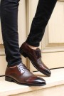 Hakiki Deri Kösele Kahve Erkek Klasik Ayakkabı 237MA574