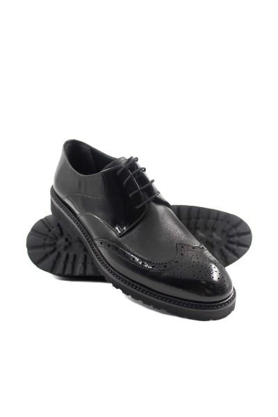 Hakiki Deri Siyah Floter Erkek Klasik Ayakkabı 237MA625