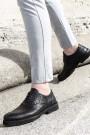 Hakiki Deri Siyah Yılan Erkek Klasik Ayakkabı 252MA6336