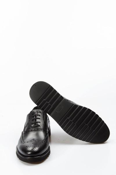Hakiki Deri Siyah Erkek Serisonu Ayakkabı 252MA113