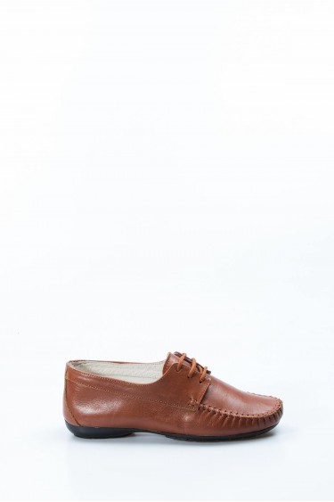 Hakiki Deri Taba Kadın Serisonu Ayakkabı 257ZA045