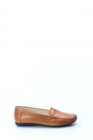 Hakiki Deri Taba Kadın Serisonu Ayakkabı 257ZA046