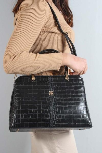 Siyah Kroko Kadın Serisonu Çanta 270CA6106