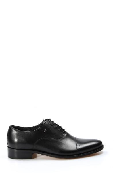 Hakiki Deri Kösele Siyah Erkek Klasik Ayakkabı 278MA1609-1