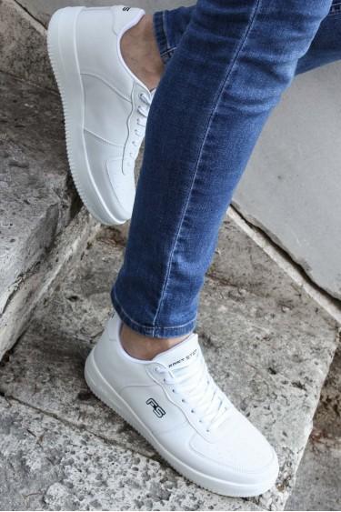 Beyaz Erkek Sneaker Ayakkabı 572MA1787
