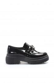 Siyah Rugan Kadın Casual Ayakkabı 606ZAZINCIR