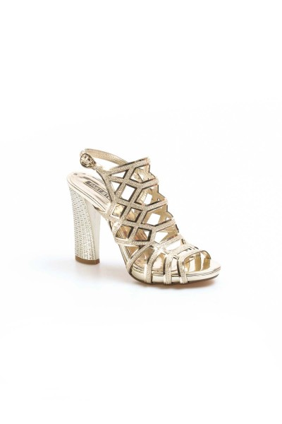 Altın Kadın Abiye Ayakkabı 629ZA314-0221
