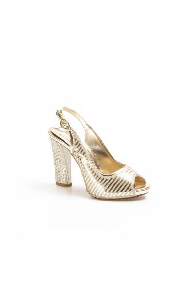 Altın Kadın Abiye Ayakkabı 629ZA314-117