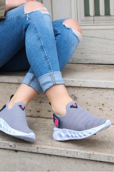 Gri Tekstil Kadın Serisonu Ayakkabı 629ZA266-415