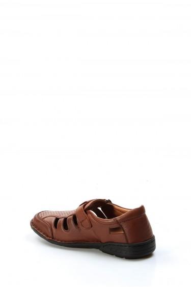 Hakiki Deri Ortopedik Taba Erkek CASUAL SANDALET Sandalet 662MA117B
