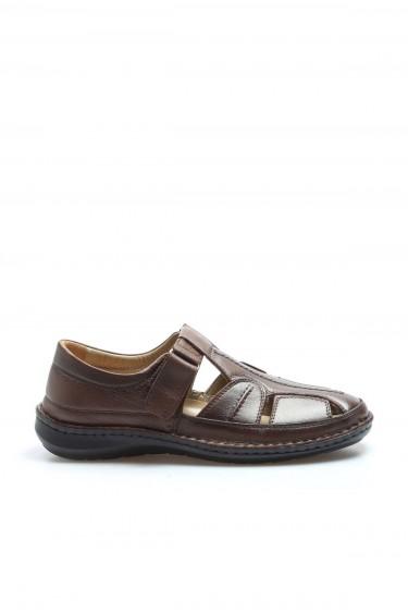 Hakiki Deri Taba Erkek Klasik Sandalet 662MA119B