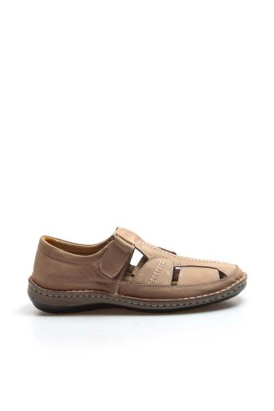 Hakiki Deri Kum Erkek Klasik Sandalet 662MA119B