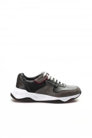 Hakiki Deri 01 Gri Suet Siyah Napa Erkek Günlük Spor Ayakkabı 698MA657260