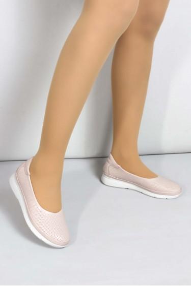 Hakiki Deri Kum Kadın Casual Ayakkabı 698ZA315010