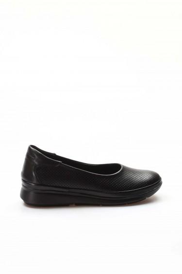 Hakiki Deri Siyah Kadın Casual Ayakkabı 698ZA315010
