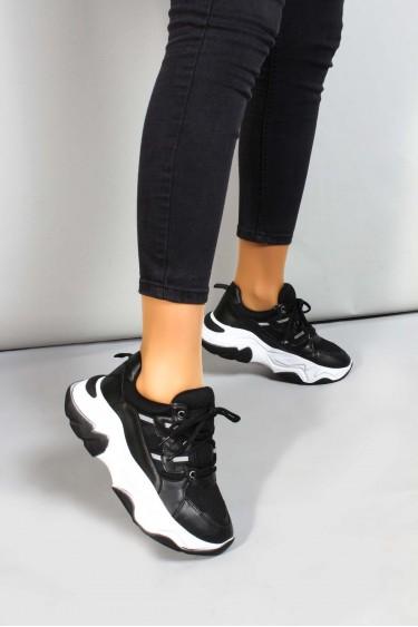 Siyah Kadın Sneaker Ayakkabı 698ZA305004