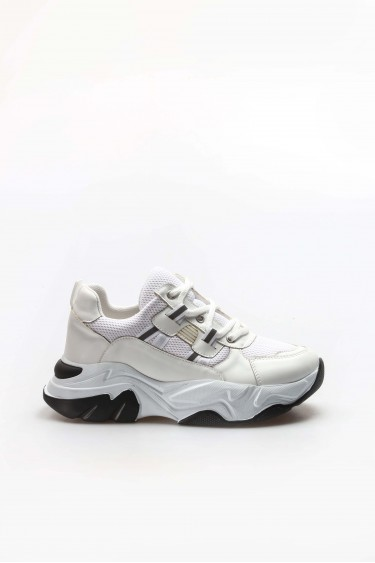 Beyaz Kadın Sneaker Ayakkabı 698ZA305004