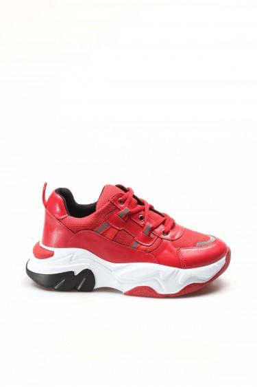 04 Kirmizi Kadın Sneaker Ayakkabı 698ZA305004