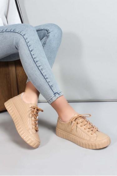 04 Nude Kadın Sneaker Ayakkabı 698ZA561079