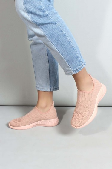 04 Pudra Triko Kadın Sneaker Ayakkabı 698ZA570031