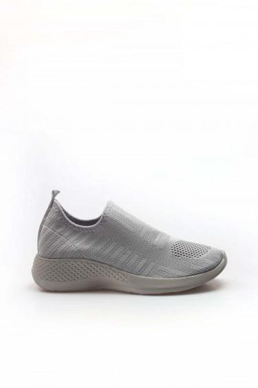 07 Gri Triko Kadın Sneaker Ayakkabı 698ZA570031