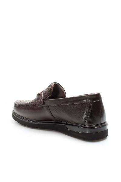 Hakiki Deri Kürklü Kahve Erkek Klasik Ayakkabı 701KMA298