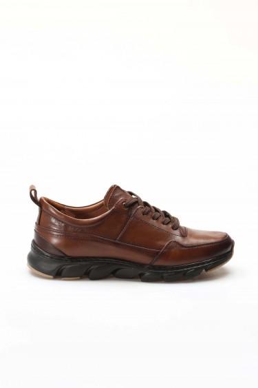 Hakiki Deri T-6 Taba Erkek Günlük Spor Ayakkabı 717MA13232