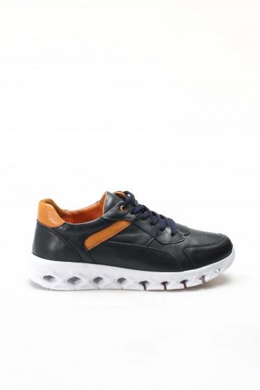 Hakiki Deri L-7 Lacivert Erkek Günlük Spor Ayakkabı 717MA13025